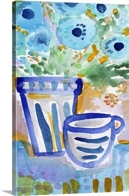 Tea and flowers I