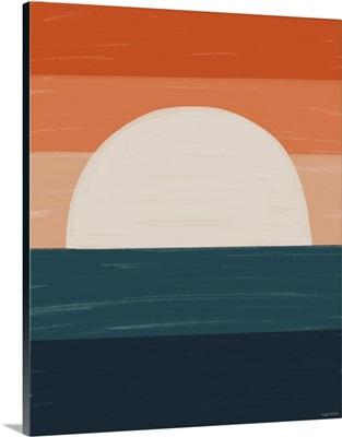 Teal Orange Sunset