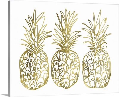 Three Golden Pineapples