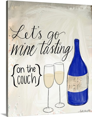 Wine Tasting on the Couch