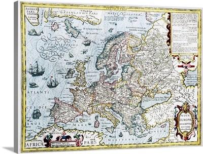 17th century map of Europe