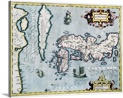 17th century map of Japan