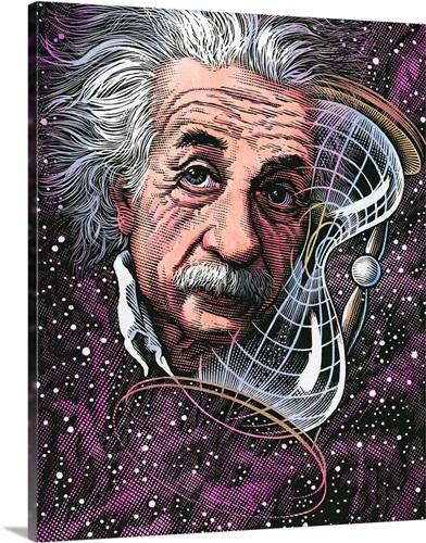 Albert Einstein, German physicist Wall Art, Canvas Prints, Framed ...