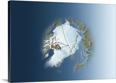 Arctic exploration, route maps