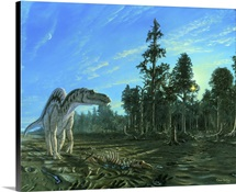 Artwork of a Maiasaura dinosaur