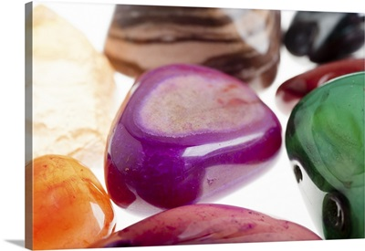 Assortment of semiprecious gemstone