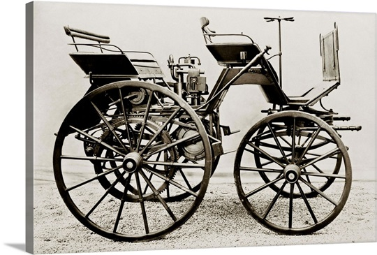 Early car, 1886 Daimler