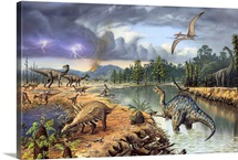 Early Cretaceous life, artwork