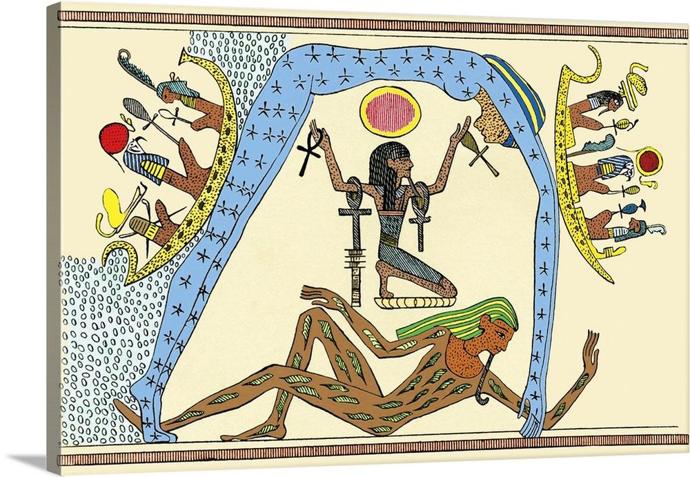 Egyptian creation myth Wall Art, Canvas Prints, Framed Prints ...