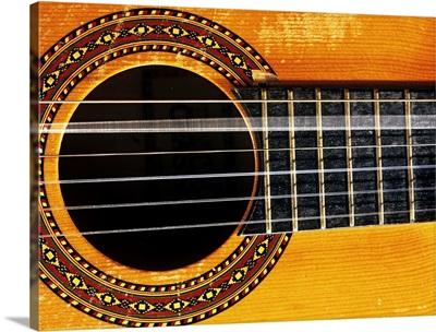 Guitar string vibrating