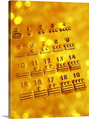 Maya numerals, artwork