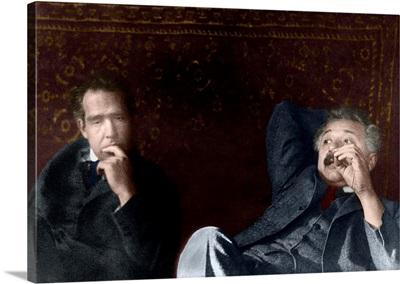 Niels Bohr and Albert Einstein, physicists