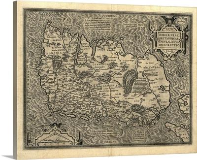 Ortelius's map of Ireland, 1598