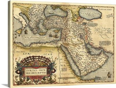 Ortelius's map of Ottoman Empire, 1570
