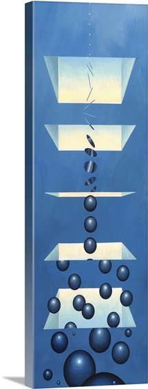 Spatial dimensions, conceptual artwork