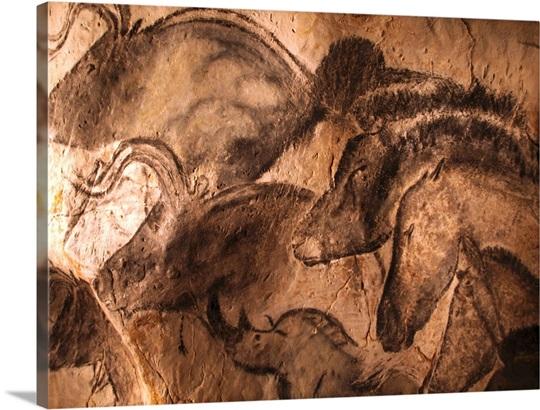 Stone Age Cave Paintings Chauvet France Canvas