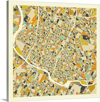 Austin Aerial Street Map
