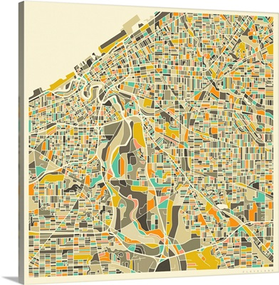 Cleveland Aerial Street Map