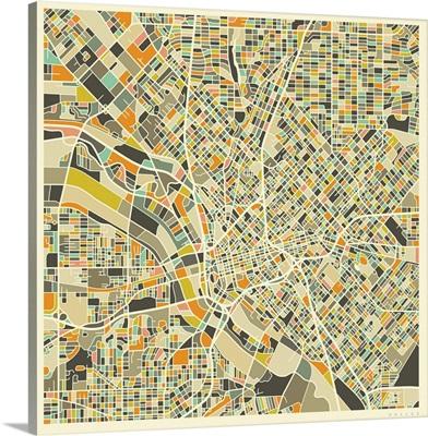 Dallas Aerial Street Map