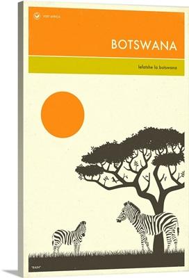 Minimalist Travel Poster -  Botswana, Africa
