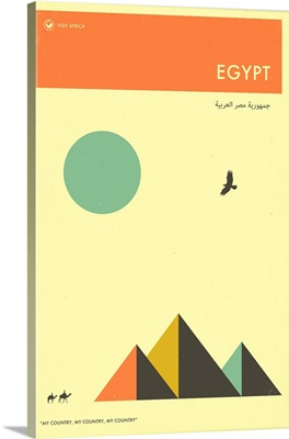 Minimalist Travel Poster -  Egypt, Africa