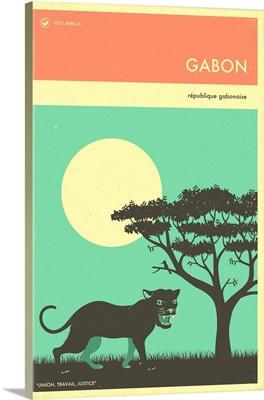 Minimalist Travel Poster - Gabon, Africa
