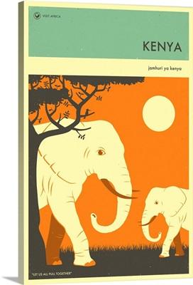 Minimalist Travel Poster - Kenya, Africa