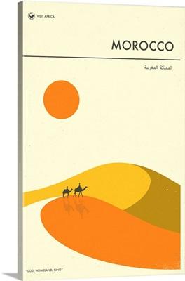 Minimalist Travel Poster - Morocco, Africa