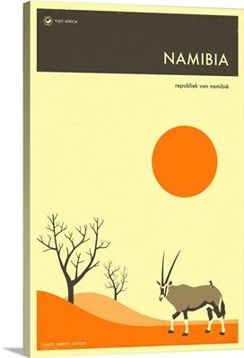 Minimalist Travel Poster - Namibia, Africa