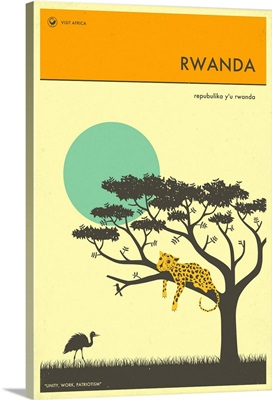 Minimalist Travel Poster - Rwanda, Africa