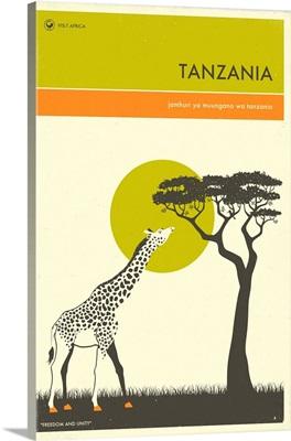 Minimalist Travel Poster - Tanzania, Africa