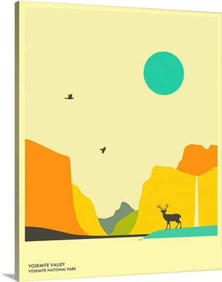Minimalist Travel Poster - Yosemite National Park