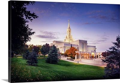 Bountiful Utah Temple, Fall Sunrise, Bountiful, Utah