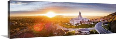 Bountiful Utah Temple, Sunset Panorama, Bountiful, Utah