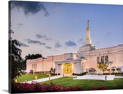 Columbus Ohio Temple at Dusk, Columbus, Ohio