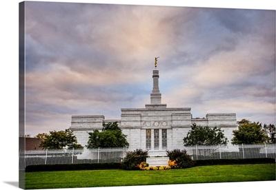 Columbus Ohio Temple, Pastel Clouds, Columbus, Ohio