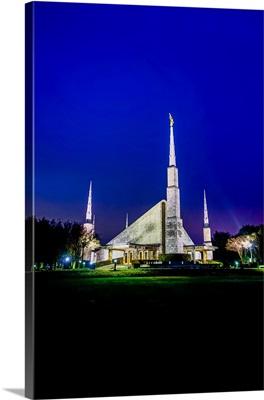 Dallas Texas Temple at Night, Texas