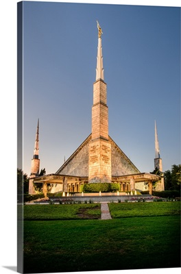 Dallas Texas Temple at Twilight, Dallas, Texas
