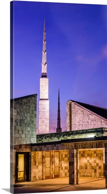 Dallas Texas Temple, Spires at Twilight, Dallas, Texas