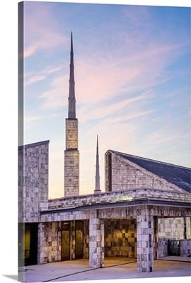 Dallas Texas Temple Spires, Morning, Dallas, Texas