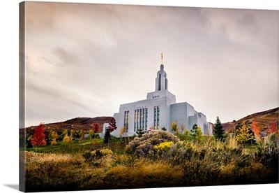 Draper Utah Temple in the Fall, From the Hill, Draper, Utah