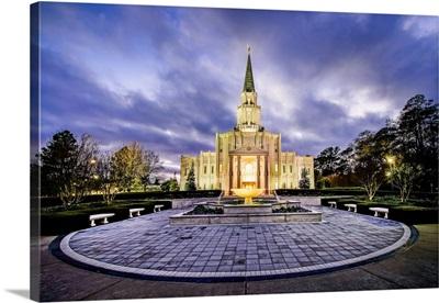 Houston Texas Temple at Twilight, Spring, Texas