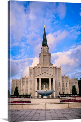 Houston Texas Temple, Clouds and Blue Skies, Spring, Texas
