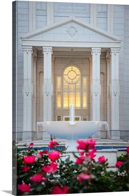 Houston Texas Temple, Fountain and Entrance, Spring, Texas