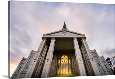 Houston Texas Temple, Looking Up, Spring, Texas