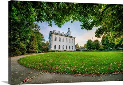 Kirtland Ohio Temple, Framed by Trees, Kirtland, Ohio
