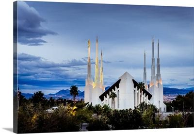 Las Vegas Nevada Temple, Above the Trees, Sunrise Manor, Nevada