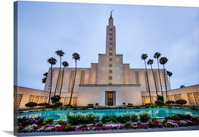 Los Angeles California Temple, Palm Trees and Garden, Los Angeles, California
