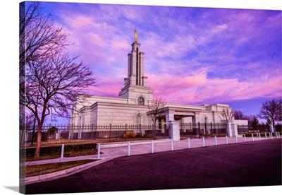Lubbock Texas Temple, Front Left Side, Sunrise, Lubbock, Texas