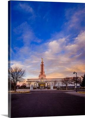 Lubbock Texas Temple, Sunrise Clouds, Lubbock, Texas